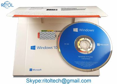 Windows 10 Home Pack 32 بیتی 64 بیتی، OEM Win 10 Pro / Home ویندوز 10 Coa Key